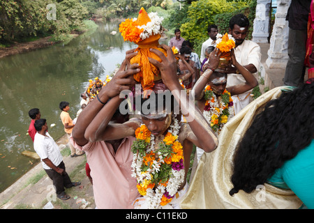 Thaipusam festival in Tenkasi, Tamil Nadu, Tamilnadu, South India, India, Asia - Stock Photo