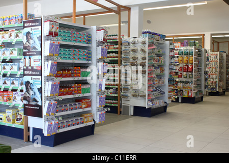 Interior aisles of Drugstore - Stock Photo