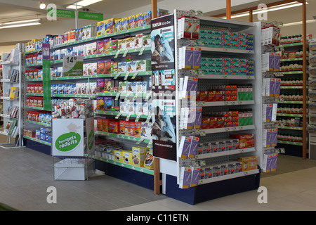 Interior of Canadian drugstore in Quebec - Stock Photo