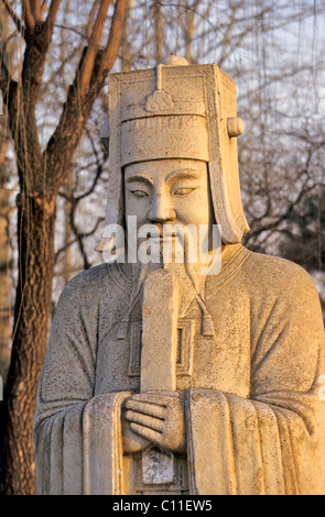 Guardian figure on the divine road, Ming graves, China, Asia - Stock Photo