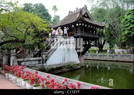 One Pillar Pagoda, Hanoi, North Vietnam, Vietnam, Southeast Asia, Asia - Stock Photo