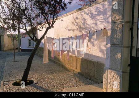 Village square, Tavira, Silves, Algarve, Portugal, Europe - Stock Photo