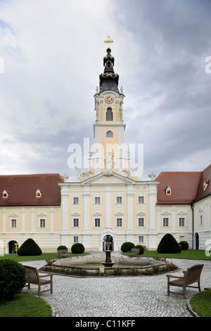 Stift Altenburg abbey, Benedictine monastery, Altenburg, Waldviertel region, Lower Austria, Austria, Europe - Stock Photo