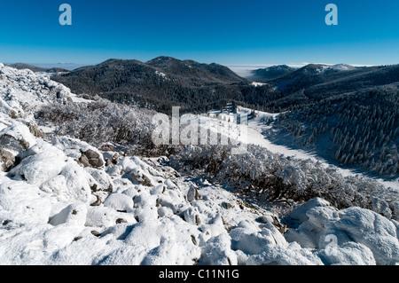Winter in Northern Velebit National Park in Croatia, Europe - Stock Photo