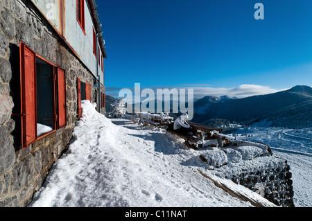 Zavizan Mountain hut in Northern Velebit National Park in Croatia, Europe - Stock Photo