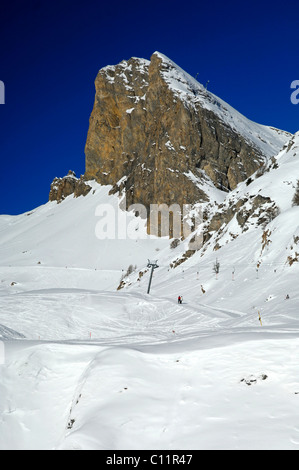 Mt Six Armaille in the skiing area Ovronnaz, Valais, Switzerland, Europe - Stock Photo