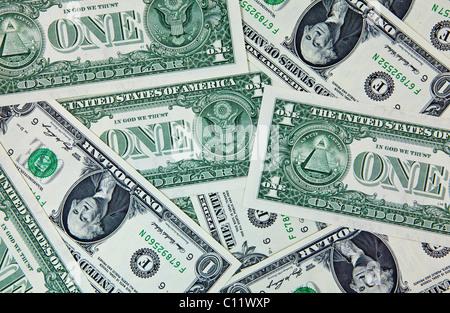 U.S. Dollar bills - Stock Photo