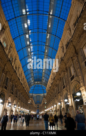Galleria Vittorio Emanuele II shopping mall, arcade, Milan, Lombardy, Italy, Europe - Stock Photo