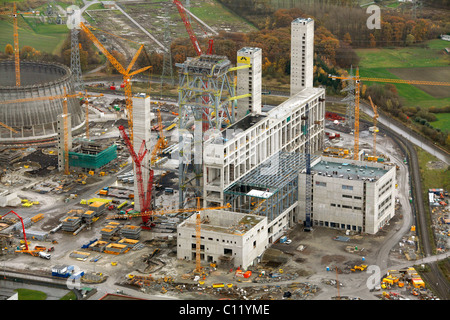Aerial photo, THTR, former nuclear power plant, RWE Westfalen power plant, coal power plant, construction site, - Stock Photo