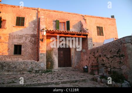 Entrance door to the Ermita del Puig de Maria, Pollensa, Mallorca - Stock Photo