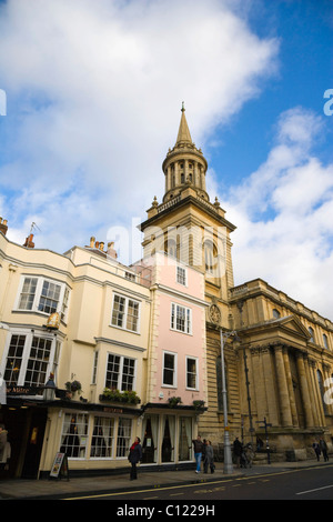 All Saints Church, now Lincoln College library, High Street, Oxford, Oxfordshire, England, United Kingdom, Europe - Stock Photo