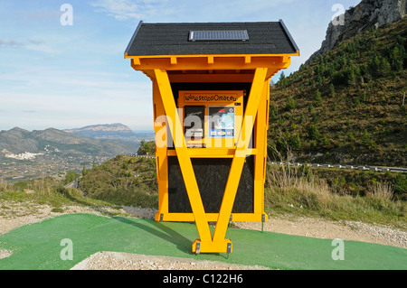 Stoppomat, time measuring system for bicycles, bicycle control station, Tarbena, Costa Blanca, Alicante province, - Stock Photo