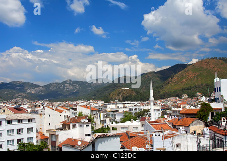 Cityscape of Marmaris city, Turkey. Top view - Stock Photo