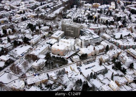 Aerial view, hospital, Muelheim an der Ruhr, Ruhrgebiet region, North Rhine-Westphalia, Germany, Europe