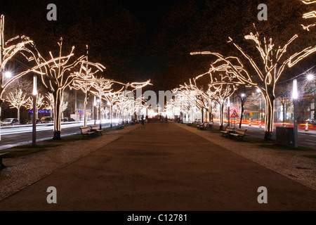 Christmas decoration, Unter den Linden, Berlin, Germany - Stock Photo