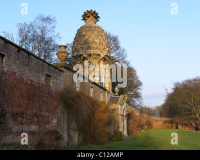 The Dunmore Pineapple, Airth, Falkirk. An architectural wonder and triumph from 1761 - Stock Photo