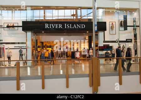 River Island in the Chapelfield indoor shopping centre in Norwich , Norfolk , England , Britain , Uk - Stock Photo
