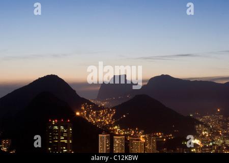 Night Life in Rio de Janeiro in Brazil - Stock Photo