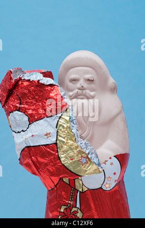 chocolate santa claus - Stock Photo