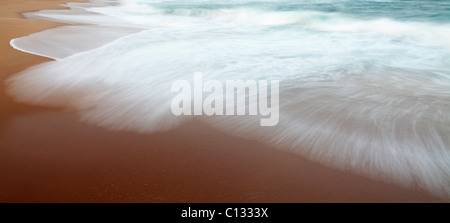 Surf at Thompson's Bay Beach, KwaZulu Natal Province, South Africa - Stock Photo