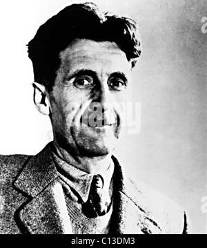 GEORGE ORWELL, circa 1949 (around the time he wrote the book '1984') - Stock Photo