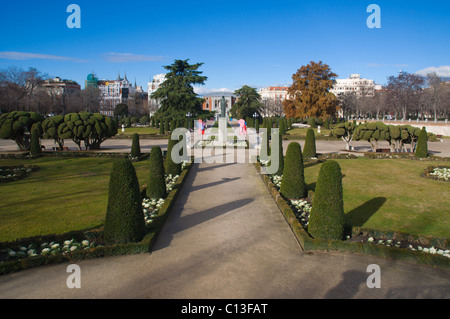 Parque del Retiro park in winter central Madrid Spain Europe - Stock Photo