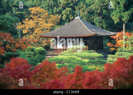 Elk148-2112 Japan, Kyoto, Ginkaku-ji, 1492, Ginkaku (Silver Pavilion) - Stock Photo