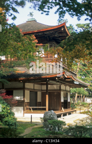 Elk148-2123 Japan, Kyoto, Ginkaku-Ji, 1492, Ginkaku (Silver Pavilion) - Stock Photo
