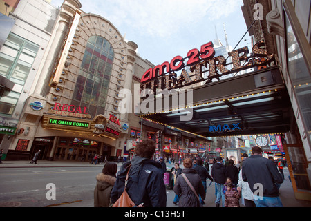 The AMC 25 Empire and the Regal Cinemas in Times Square in New York seen on Saturday, March 5, 2011. (© Richard - Stock Photo