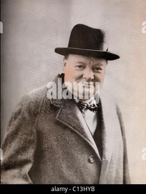 Winston Churchill, (1874-1965) British Prime Minister and 1953 Nobel Prize for Literature