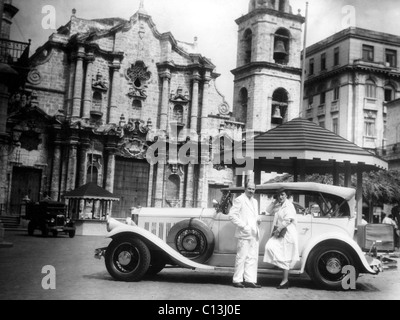 Xavier Cugat and his wife Carmen at Catedral de San Cristóbal de La Habana (Cathedral of Saint Christopher of Havana)in - Stock Photo
