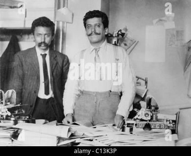 Librado Rivera (1864-1932) and Enrique Flores Magon (1877-1954), Mexican anarchists associated with Emiliano Zapata, - Stock Photo