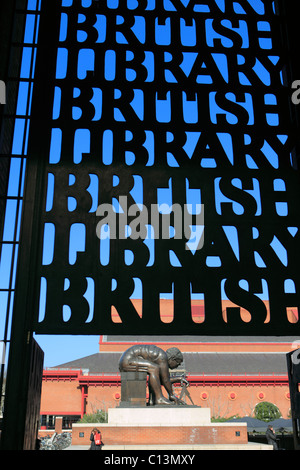 united kingdom london euston road the british library - Stock Photo
