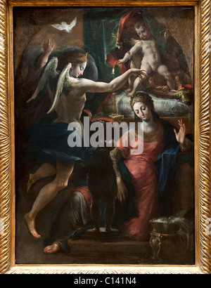 The Annunciation, Attributed to Parmigianino - Stock Photo