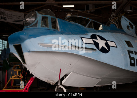 PBY CATALINA VINTAGE WW2 FLYING BOAT REPUBLIC FIELD LONG ISLAND NEW YORK  UNITED STATES OF AMERICA - Stock Photo