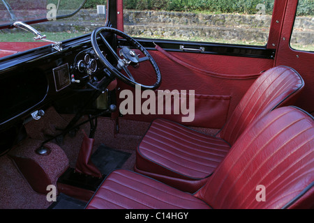 interior of vintage british classic car austin 7 stock photo royalty free image 35136825 alamy. Black Bedroom Furniture Sets. Home Design Ideas