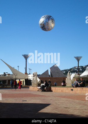 A view of the Wellington Civic Square, Wellington, New Zealand - Stock Photo