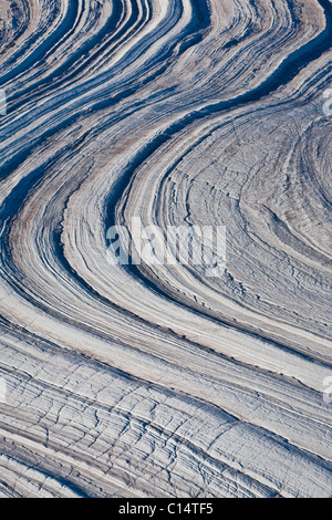 Abstract glacier landscape, Baffin Island, Canada. - Stock Photo