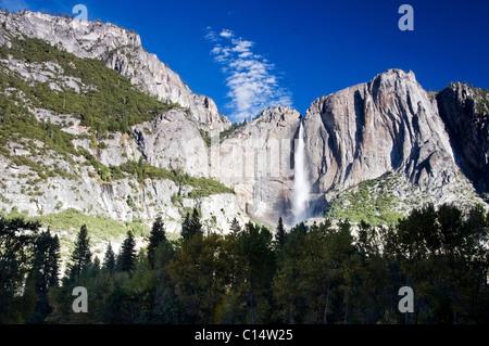 Upper Yosemite Fall in Yosemite National Park, CA. - Stock Photo