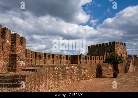 Castle at Silves, the Algarve, Portugal - Stock Photo
