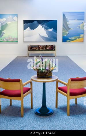 Interior view - Anderson Museum of Contemporary Art in Roswell, New Mexico. - Stock Photo