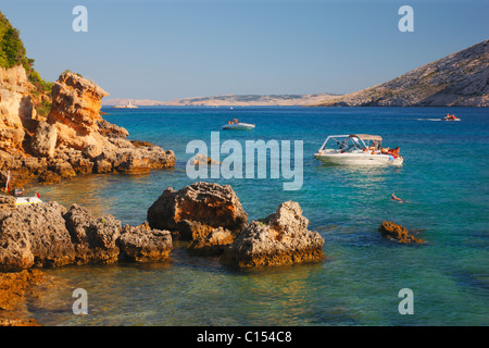 Rocky coast on island Rab - Stock Photo
