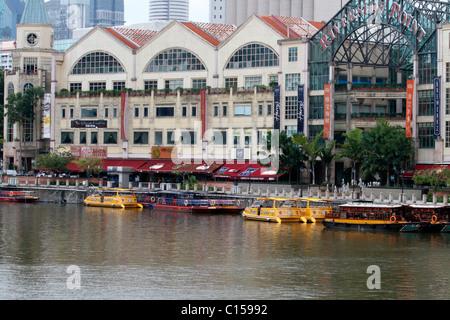 Riverside Point along Singapore River, Singapore - Stock Photo