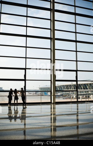 shanghai: terminal building of pudong international airport - Stock Photo