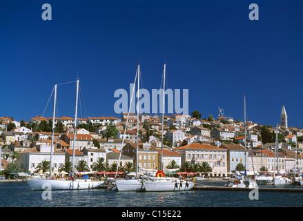 Harbour, Mali Losinj, Losinj Island, Istria, Croatia - Stock Photo