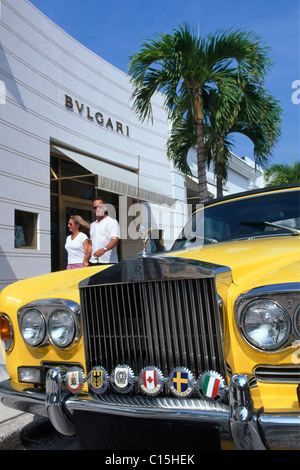 Bulgari boutique, shopping district, Palm Beach, Florida, USA - Stock Photo