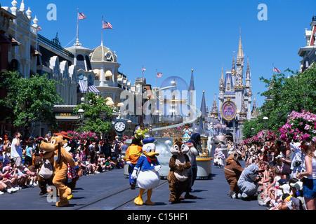 Magic Kingdom, Disneyworld, Disney World, Orlando, Florida, USA - Stock Photo