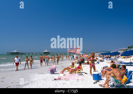 Beach at Fort Myers, Florida, USA - Stock Photo