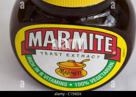A Jar of British Marmite on white - Stock Photo