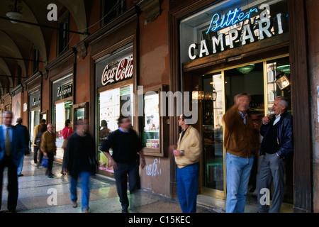 Piazza Galvani, Bologna, Emilia-Romagna, Italy - Stock Photo